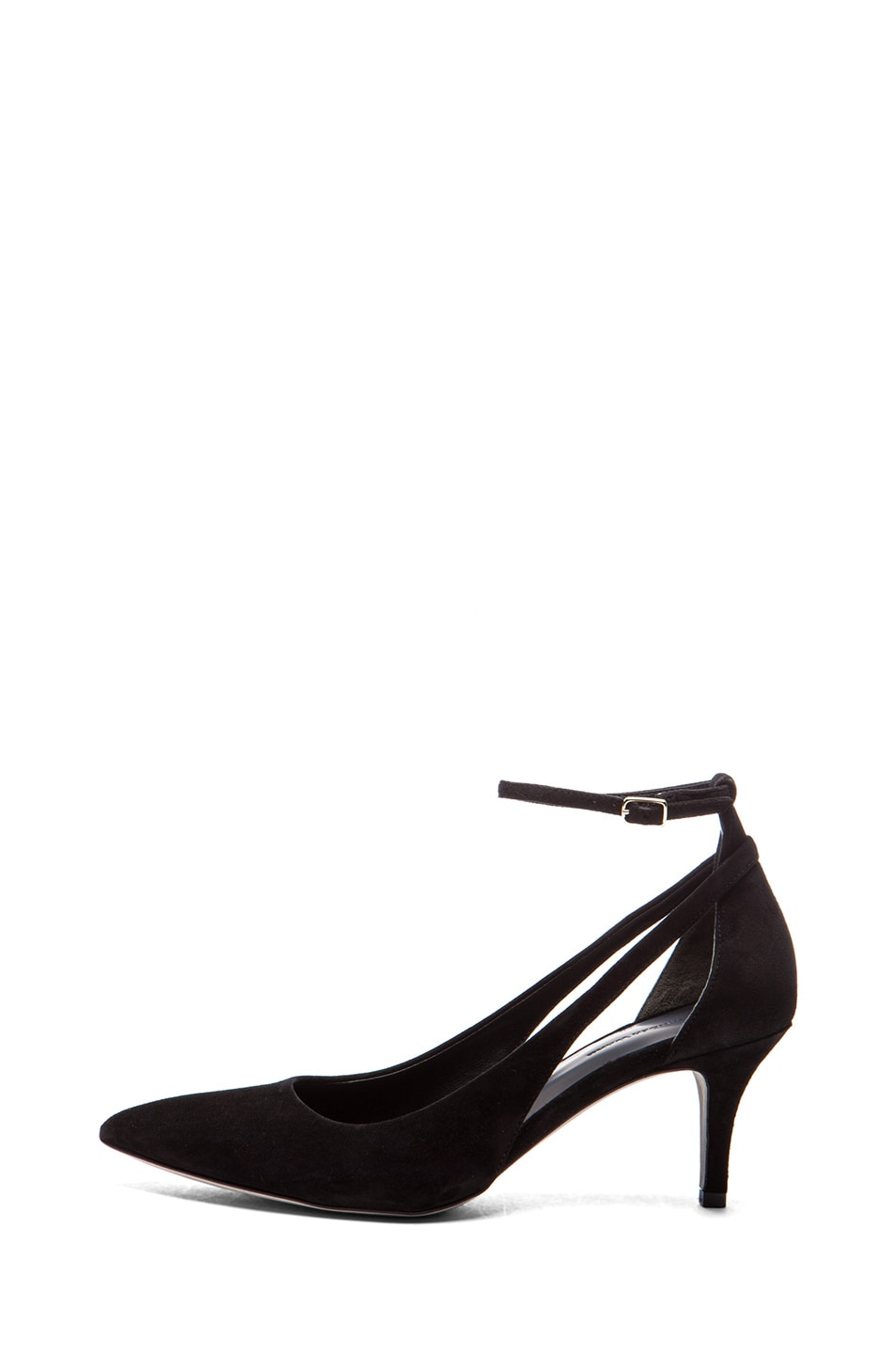 Image 1 of Alexander Wang Theres Kitten Suede Pump in Black