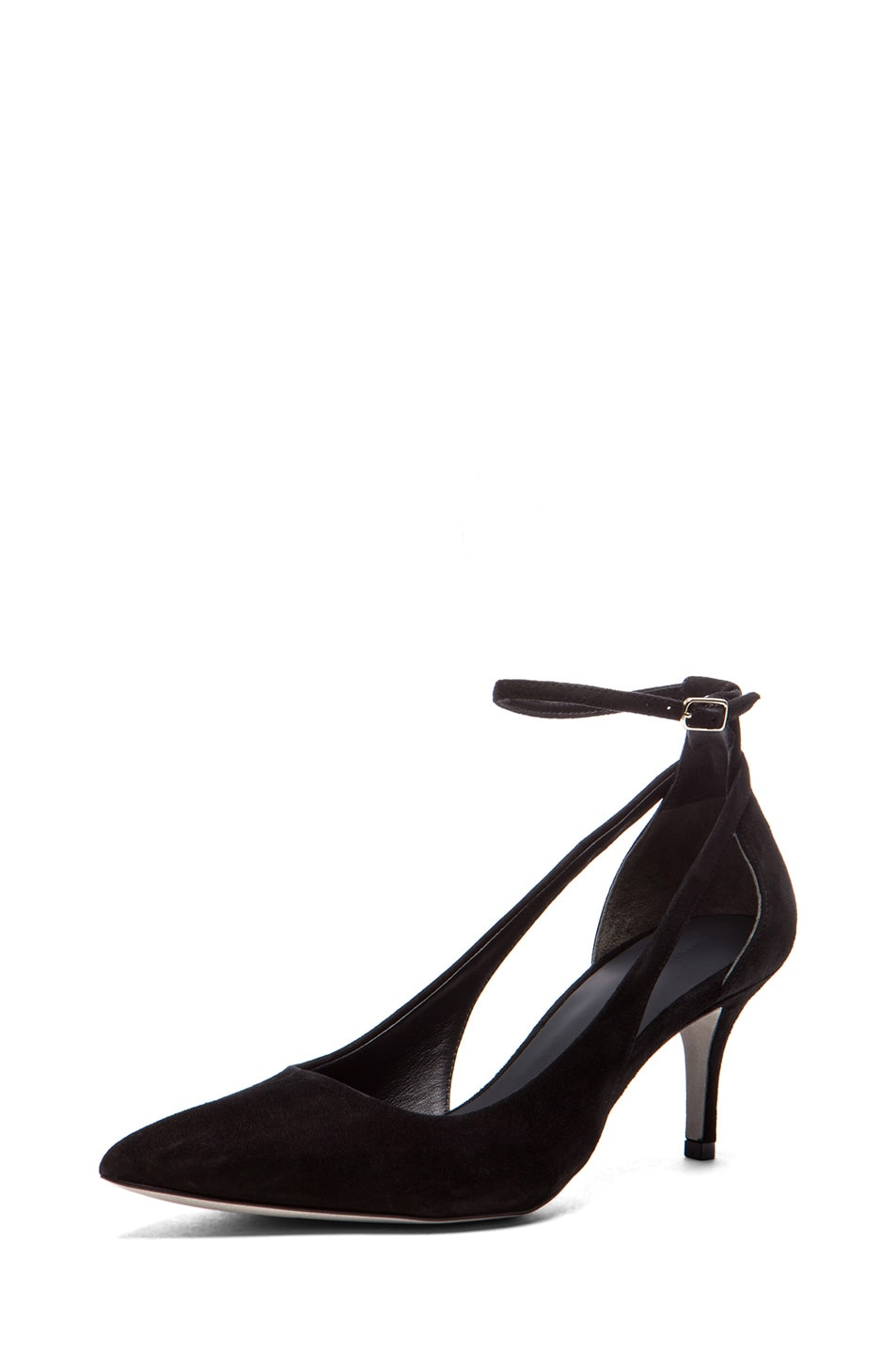 Image 2 of Alexander Wang Theres Kitten Suede Pump in Black