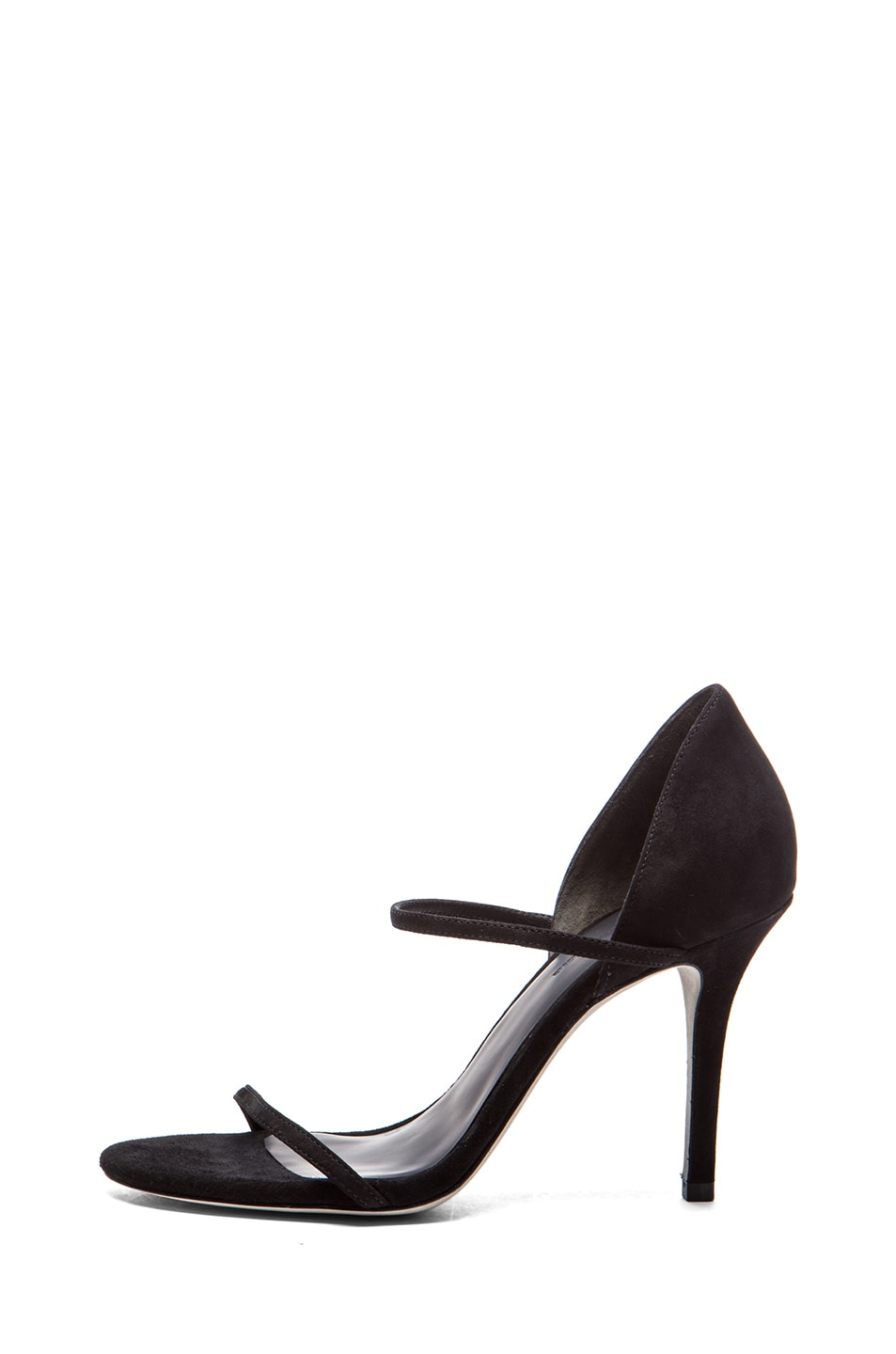 Image 1 of Alexander Wang Stasya Suede Heels in Black