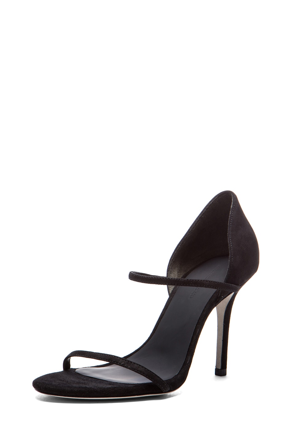 Image 2 of Alexander Wang Stasya Suede Heels in Black