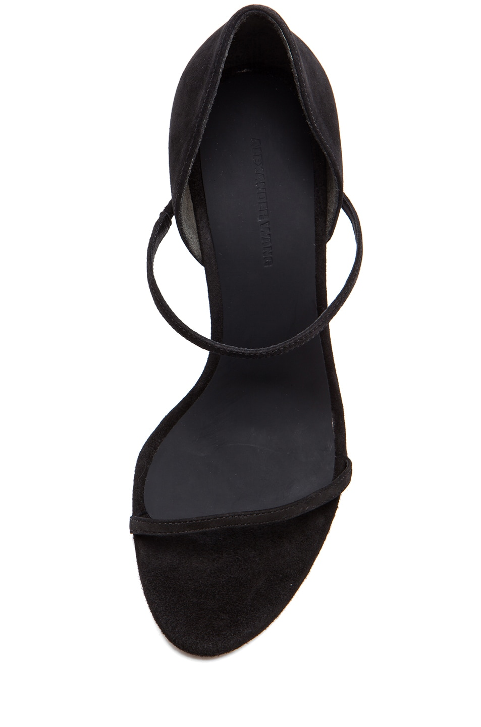 Image 4 of Alexander Wang Stasya Suede Heels in Black