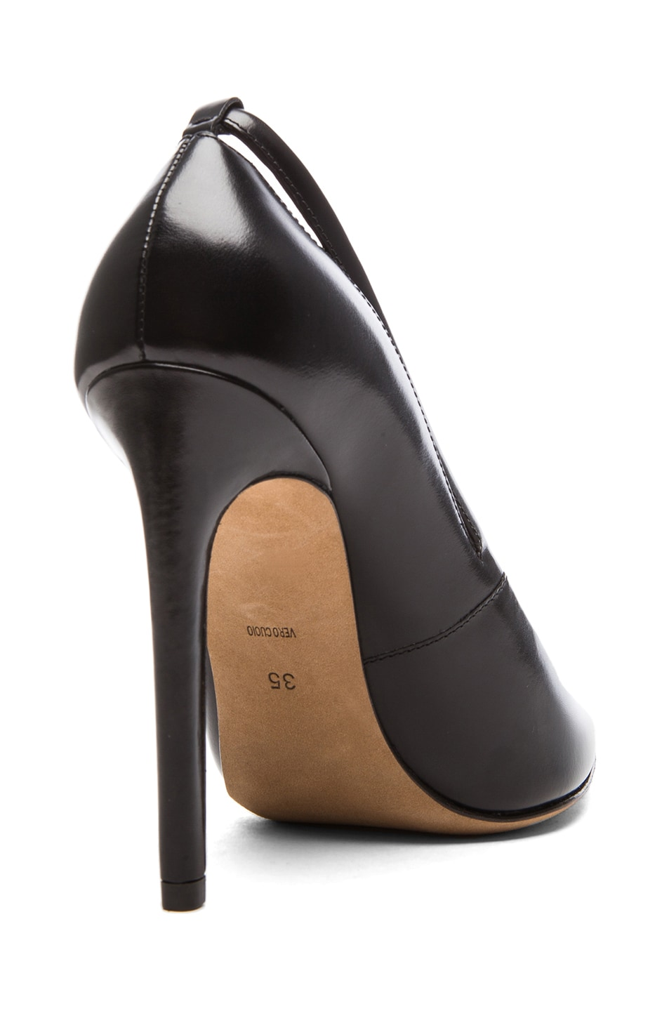 Image 3 of Alexander Wang Kiko Shiny Leather Pumps in Black