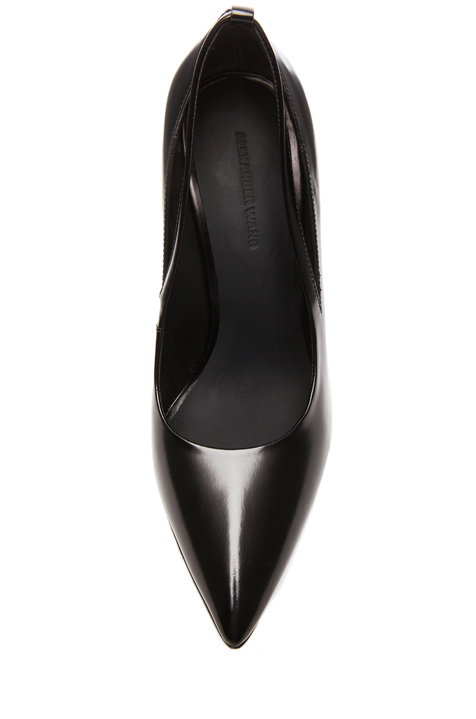 Image 4 of Alexander Wang Kiko Shiny Leather Pumps in Black