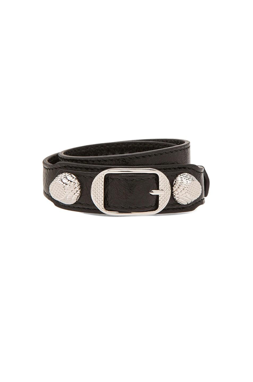 Image 1 of Balenciaga Giant Bracelet in Noir