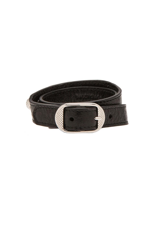 Image 3 of Balenciaga Giant Bracelet in Noir