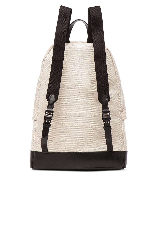 Image 3 of Balenciaga Navy Backpack in Black & Natural