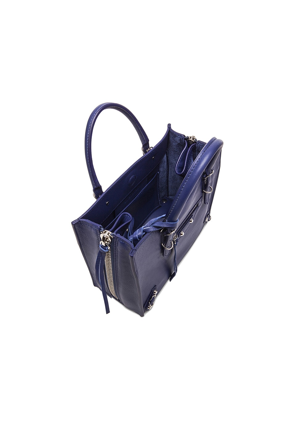 Image 5 of Balenciaga Papier Zip Around Mini in Blue Officer