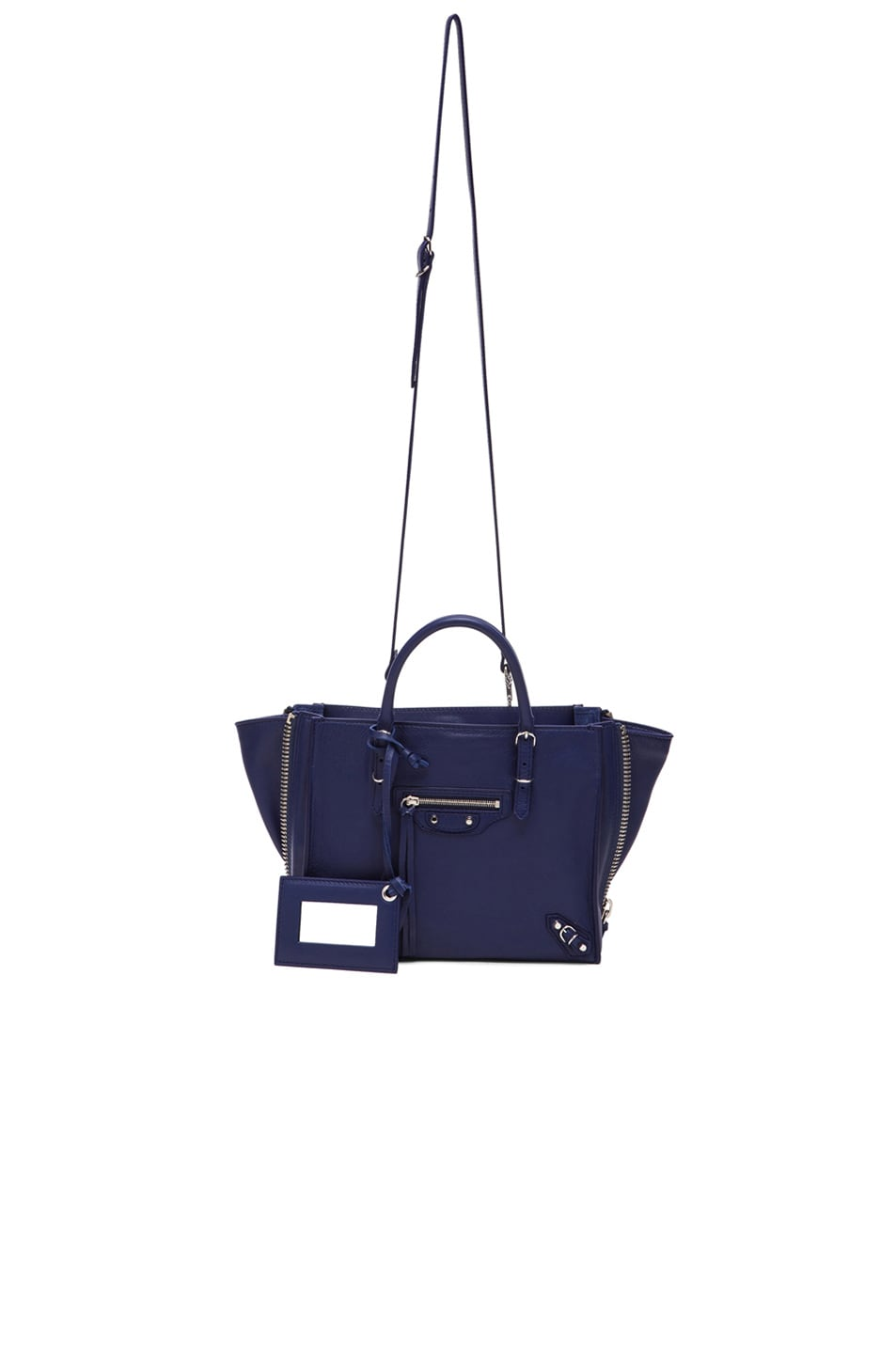 Image 6 of Balenciaga Papier Zip Around Mini in Blue Officer