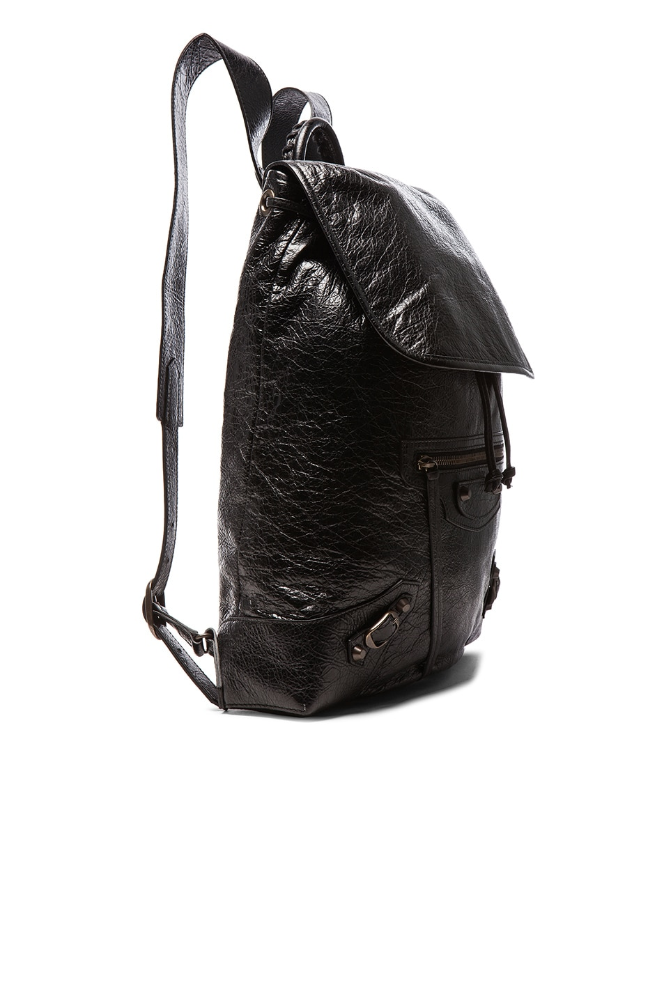 Image 4 of Balenciaga Classic Small Traveler Backpack with Traditional Studs in Black