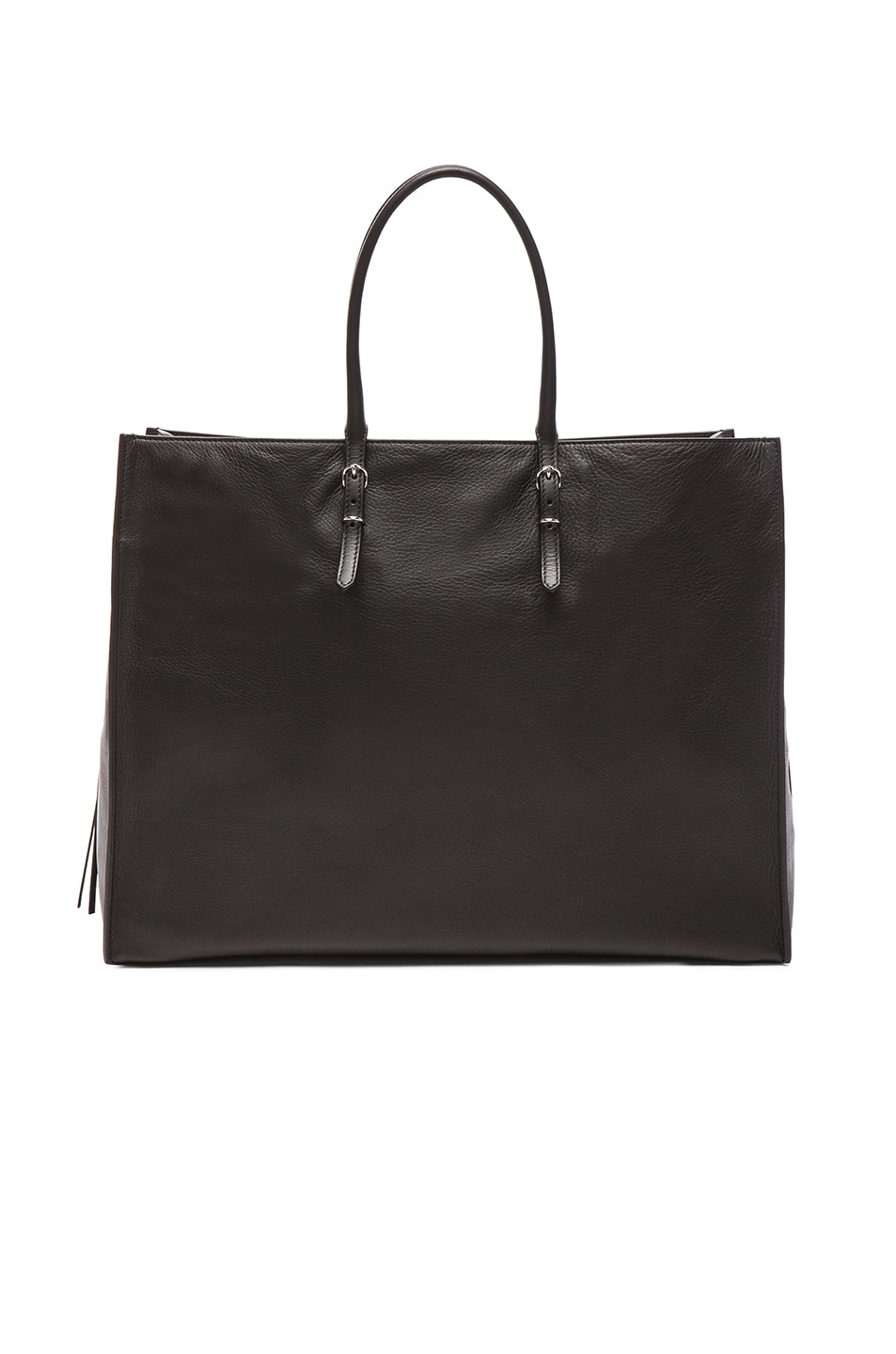 Image 3 of Balenciaga Papier Zip Around A4 Tote in Black