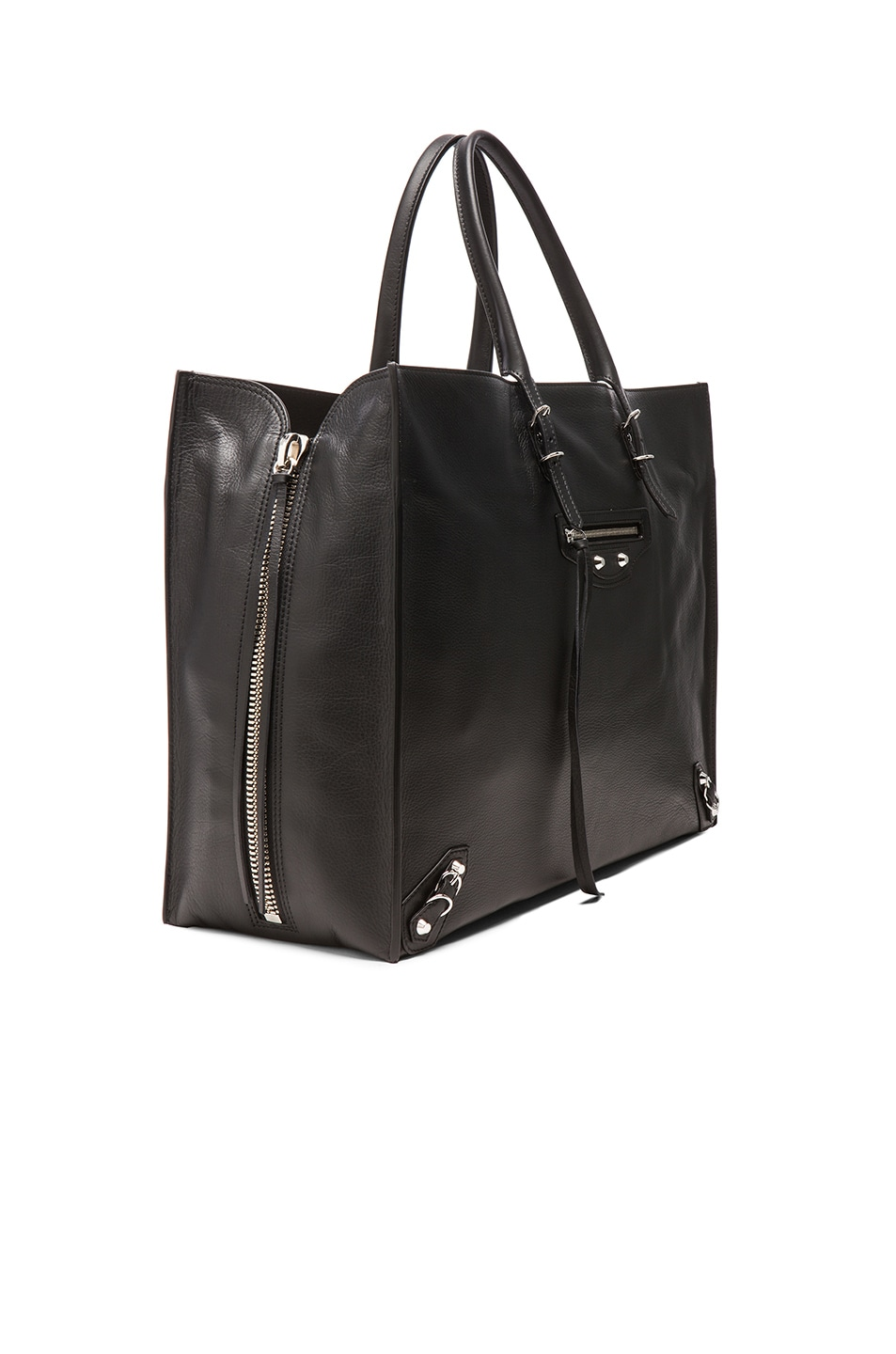Image 4 of Balenciaga Papier Zip Around A4 Tote in Black