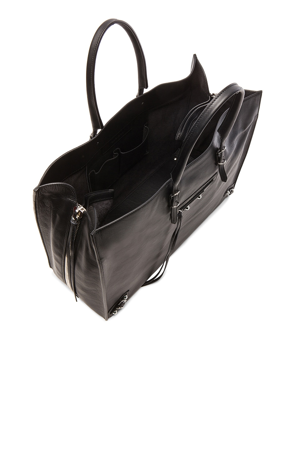 Image 5 of Balenciaga Papier Zip Around A4 Tote in Black