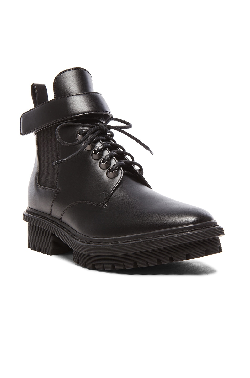 Image 2 of Balenciaga Unit Leather Ankle Boots in Black