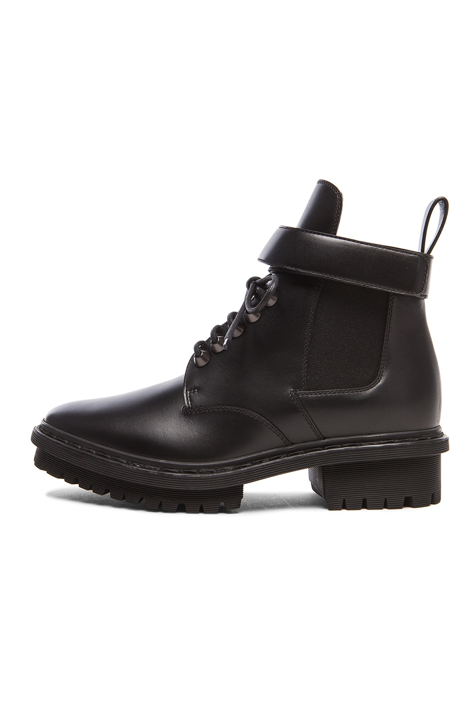 Image 5 of Balenciaga Unit Leather Ankle Boots in Black