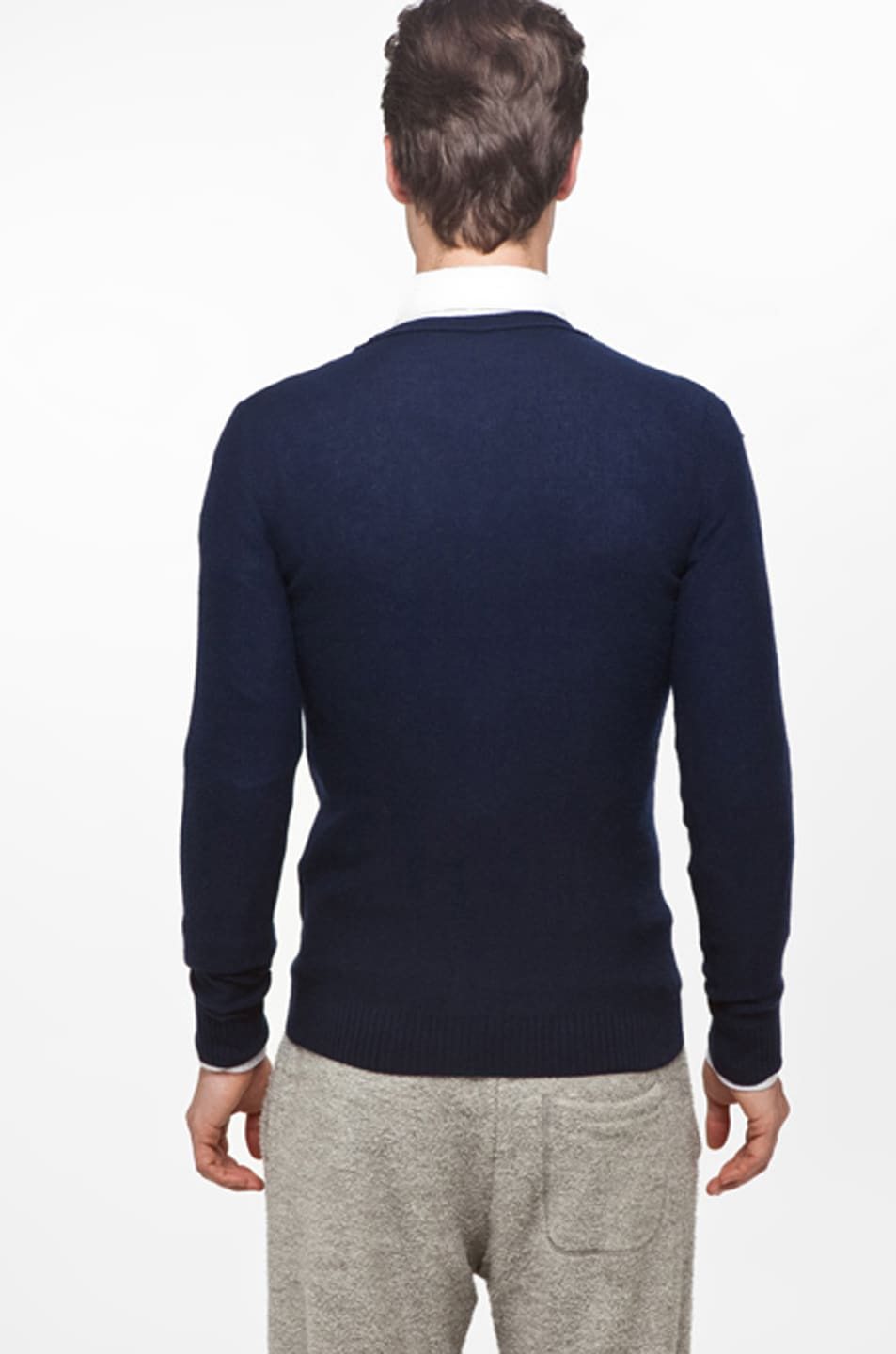 Image 4 of Band of Outsiders Classic Cardigan in Navy