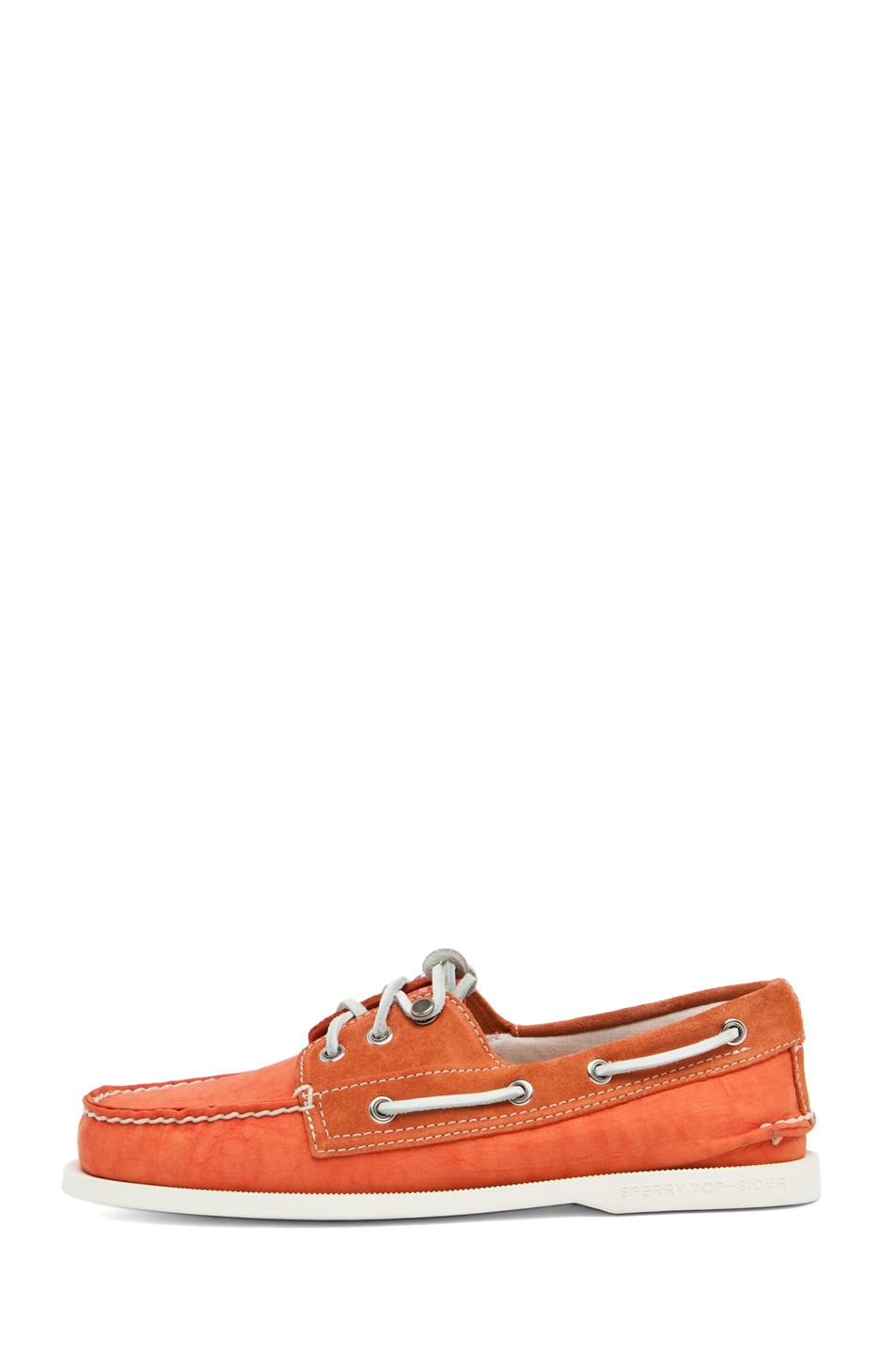 Image 1 of Band of Outsiders x Sperry Top-Sider 3 Eye Boat Shoe in Orange