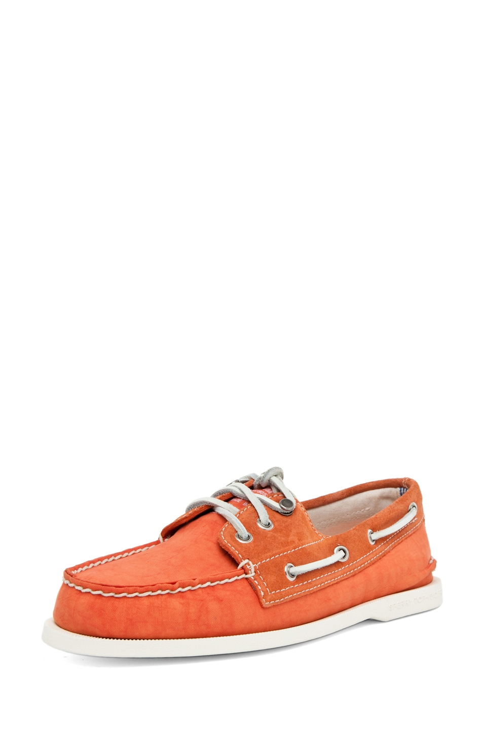 Image 2 of Band of Outsiders x Sperry Top-Sider 3 Eye Boat Shoe in Orange