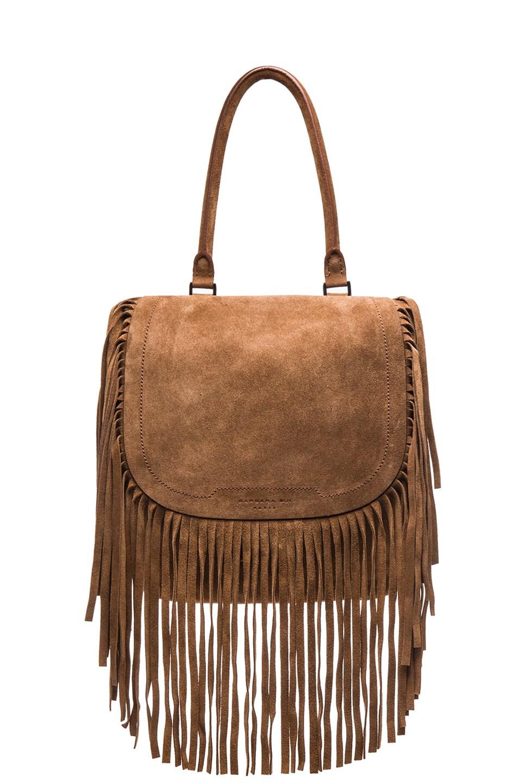 Image 1 of Barbara Bui Fringe Bag in Brown