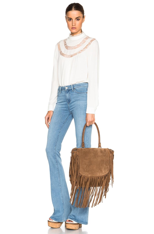 Image 2 of Barbara Bui Fringe Bag in Brown