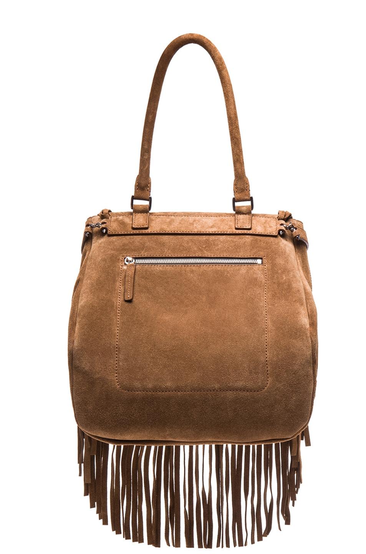 Image 3 of Barbara Bui Fringe Bag in Brown
