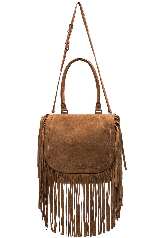 Image 6 of Barbara Bui Fringe Bag in Brown