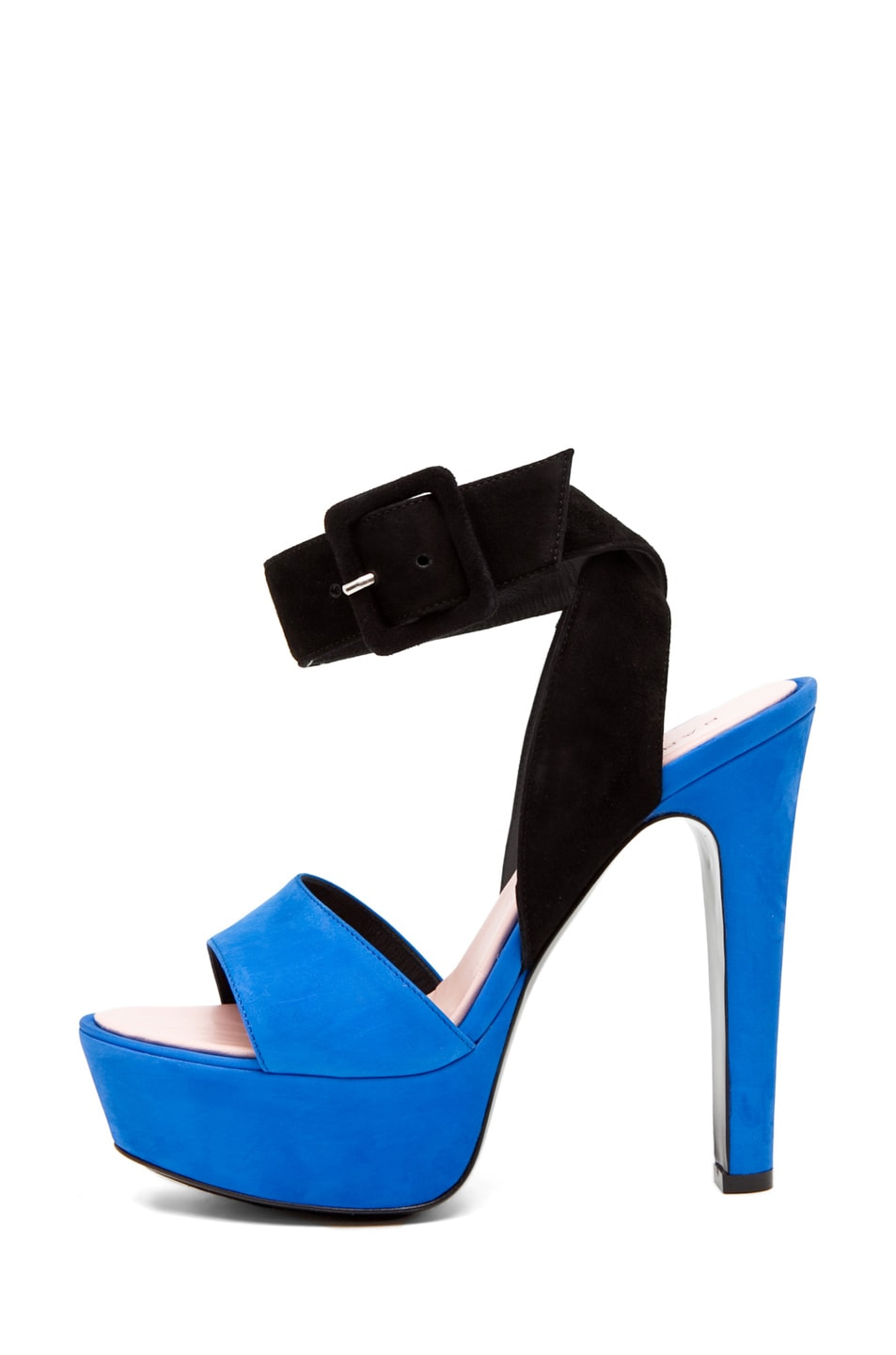 Image 1 of Barbara Bui Ankle Strap Heel Blue/Black