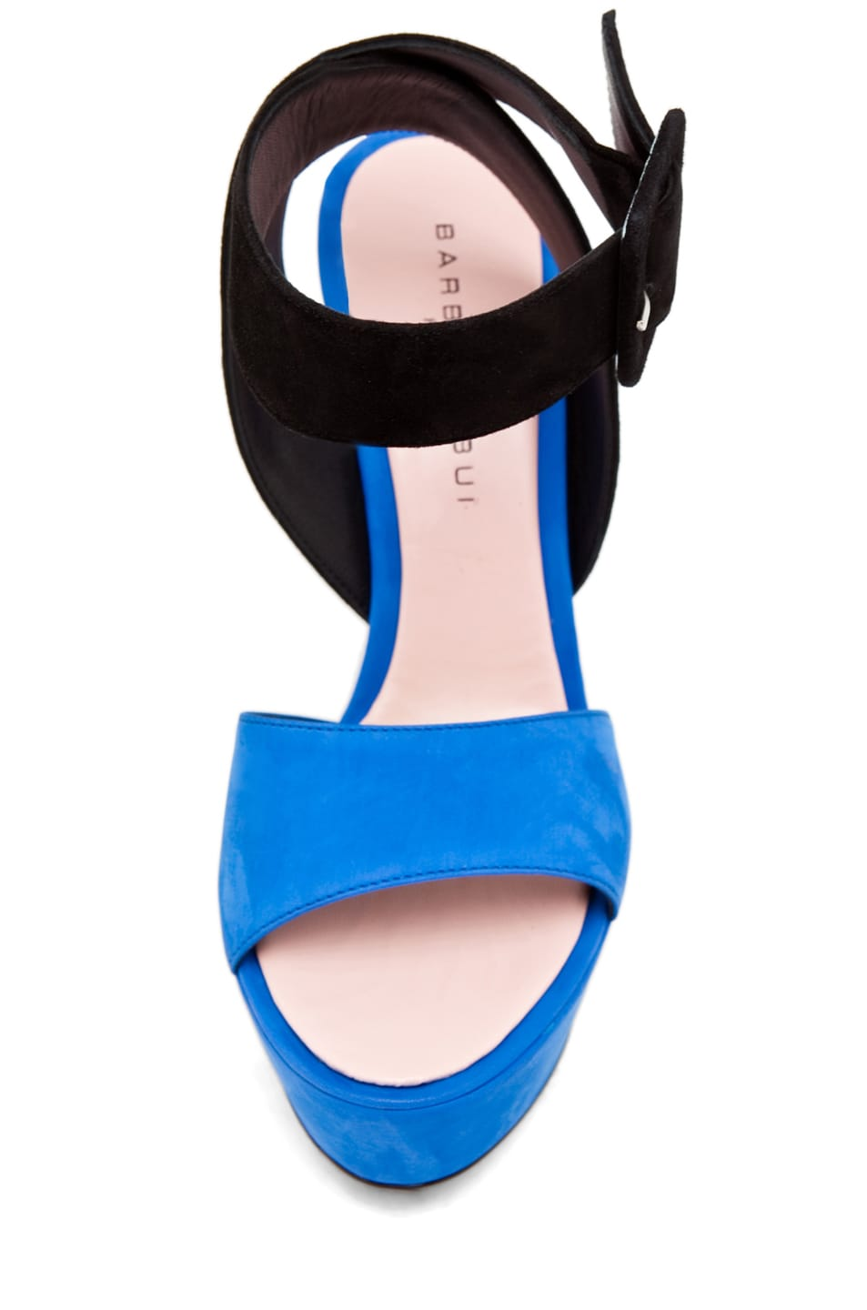 Image 4 of Barbara Bui Ankle Strap Heel Blue/Black