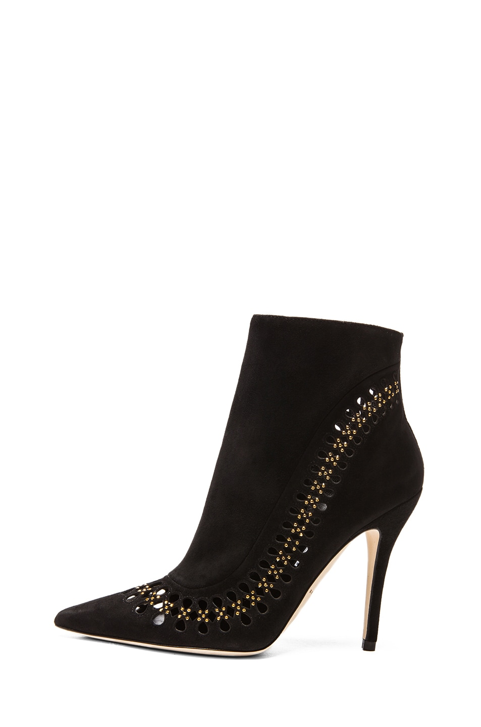 Image 1 of Brian Atwood Atena Suede Booties in Black