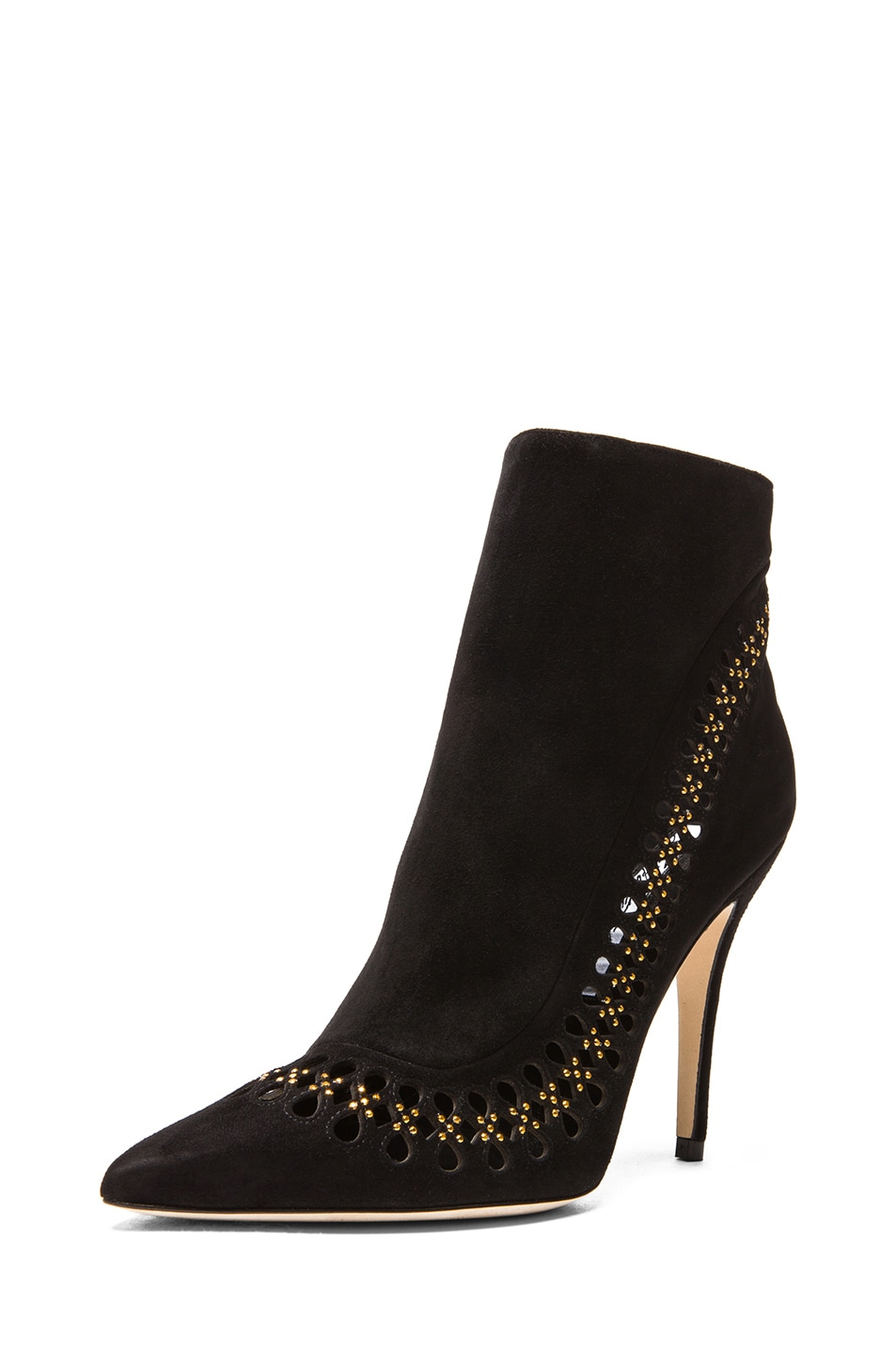 Image 2 of Brian Atwood Atena Suede Booties in Black