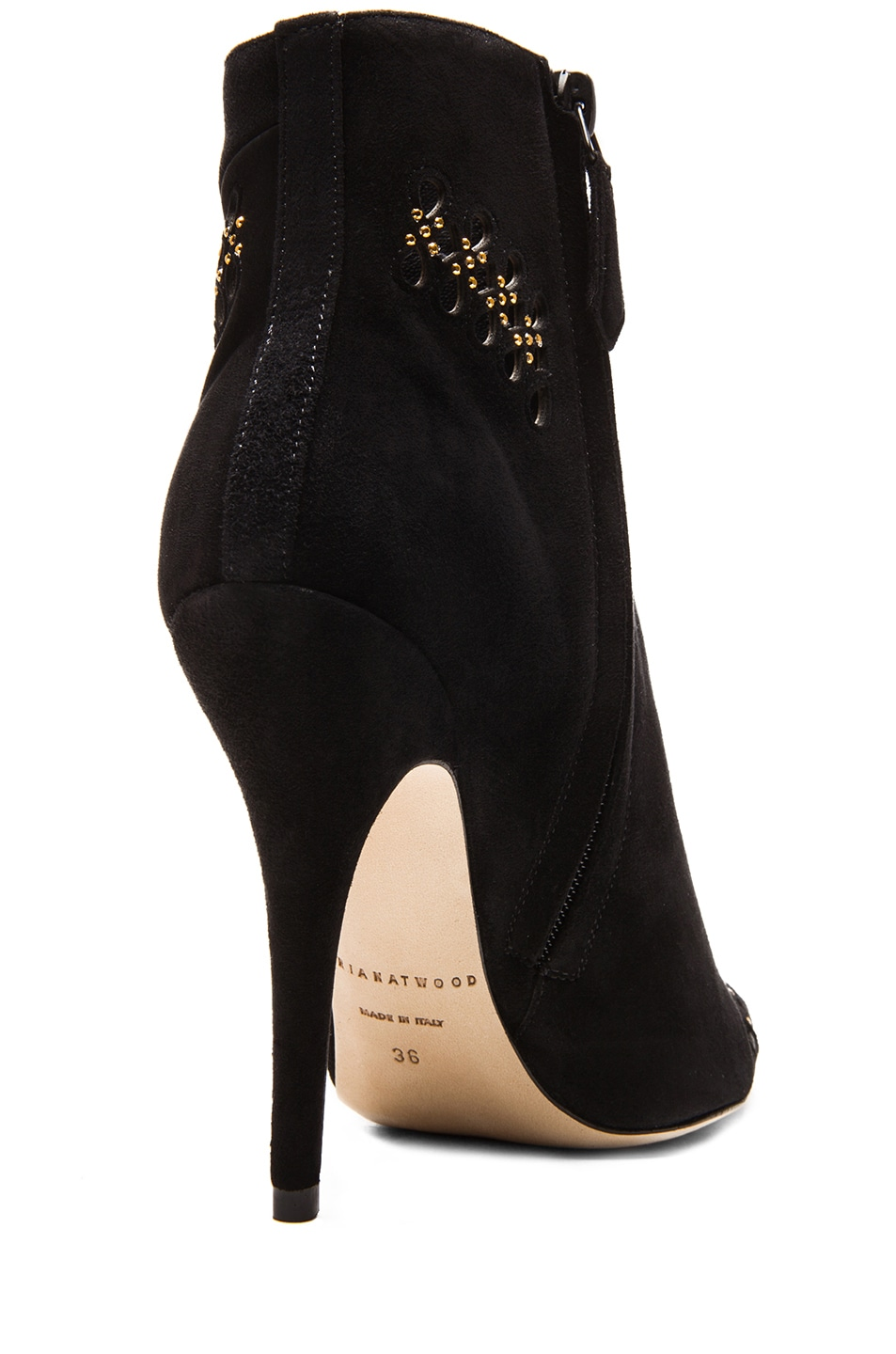 Image 3 of Brian Atwood Atena Suede Booties in Black
