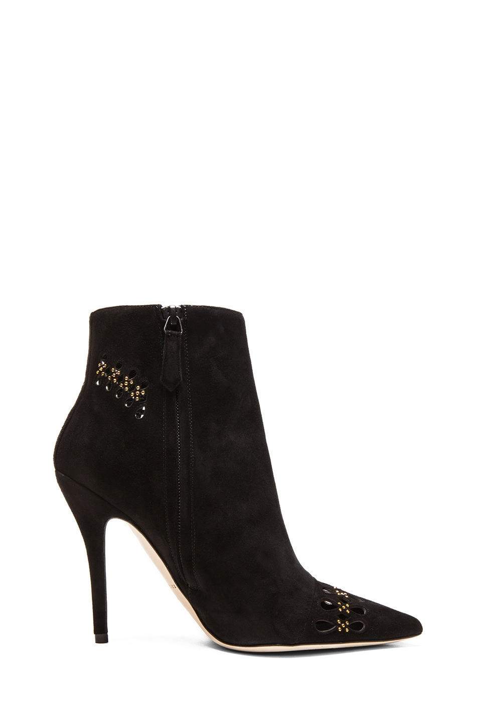 Image 5 of Brian Atwood Atena Suede Booties in Black
