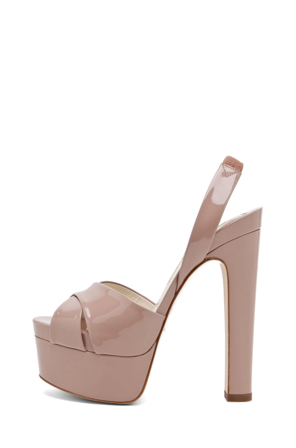 Image 1 of Brian Atwood Manhattan Sandal in Cappuccino Nude