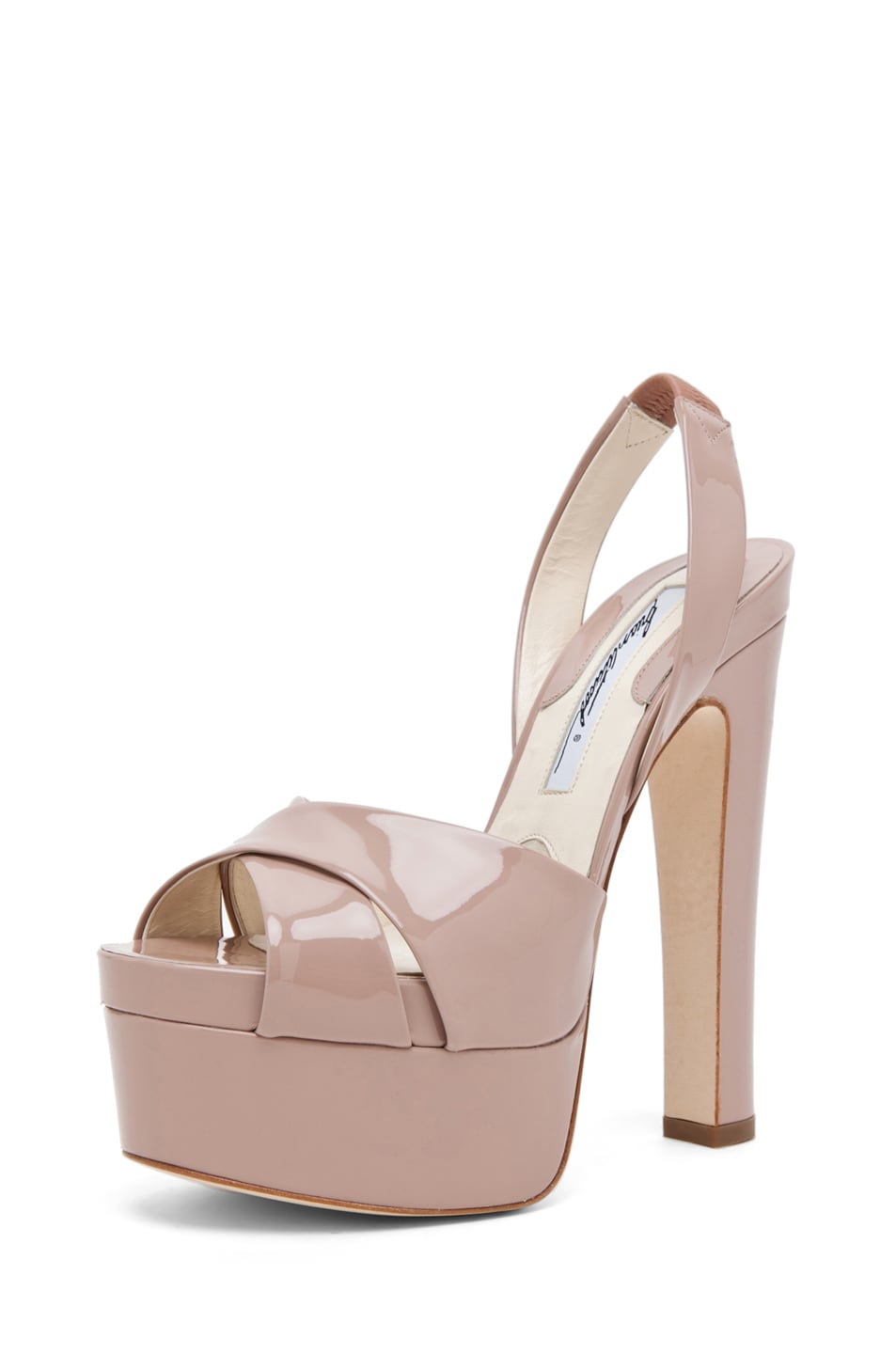 Image 2 of Brian Atwood Manhattan Sandal in Cappuccino Nude