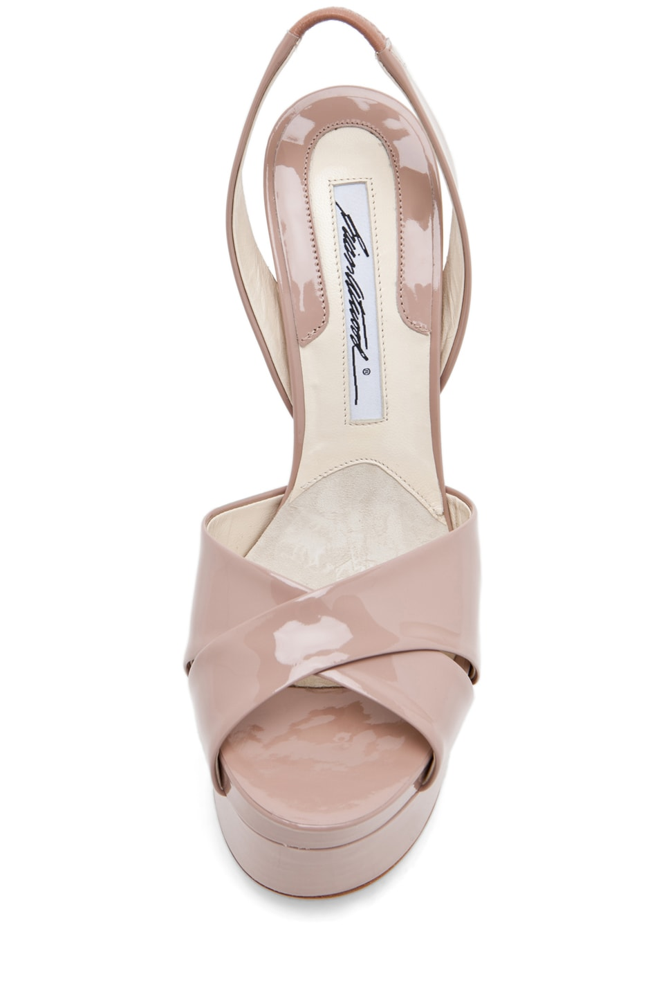 Image 4 of Brian Atwood Manhattan Sandal in Cappuccino Nude