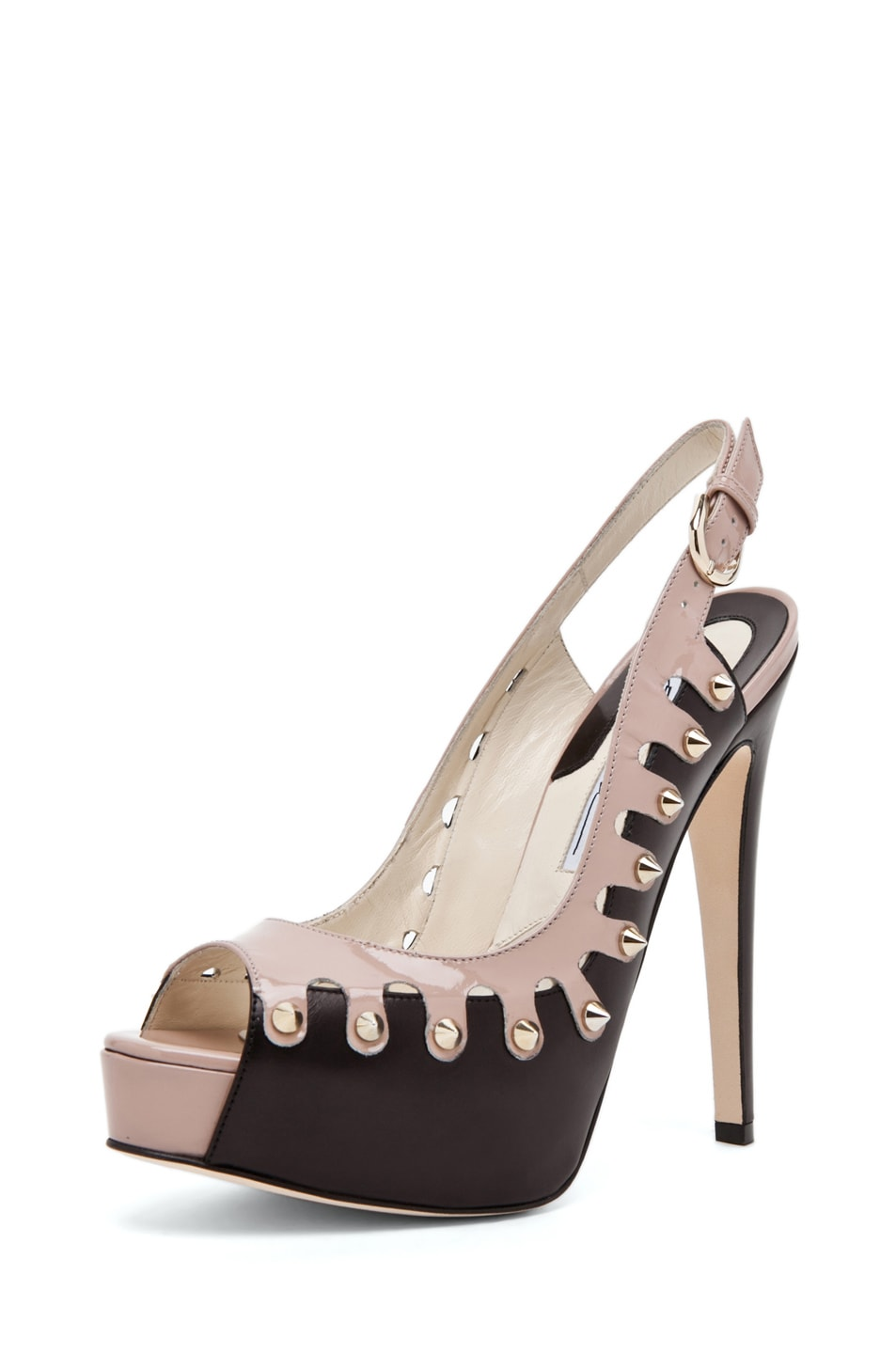 Image 2 of Brian Atwood Neela in Black/Cappuccino Nude