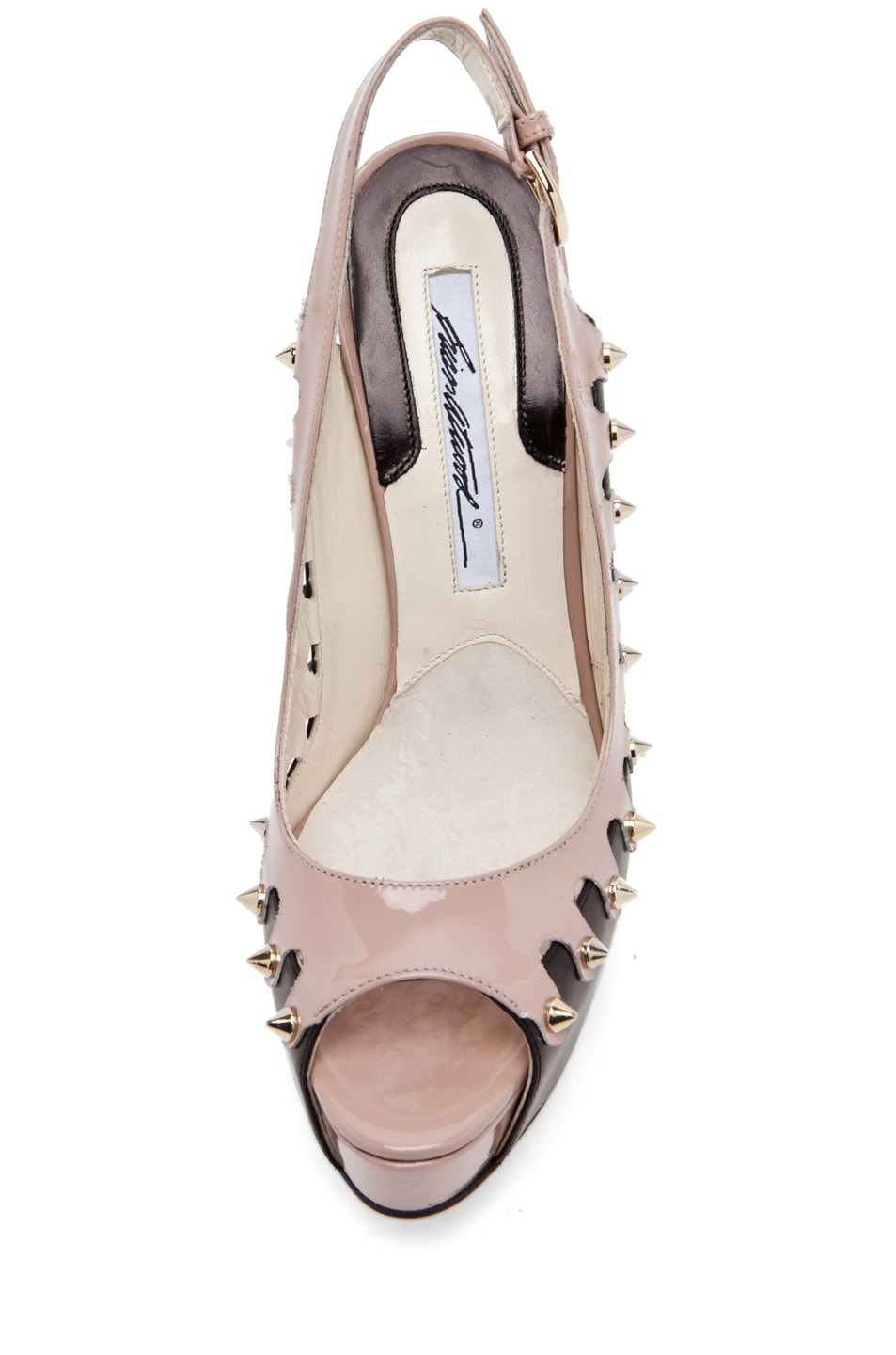 Image 4 of Brian Atwood Neela in Black/Cappuccino Nude