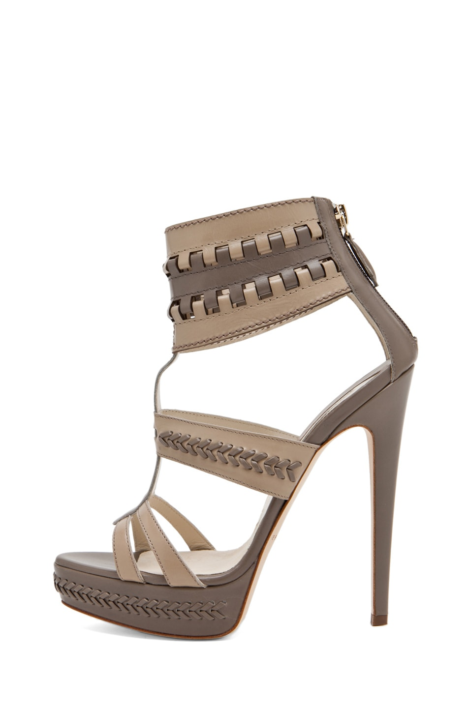 Image 1 of Brian Atwood Glamazon T Strap in Pomice