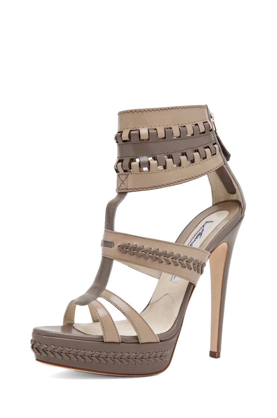 Image 2 of Brian Atwood Glamazon T Strap in Pomice