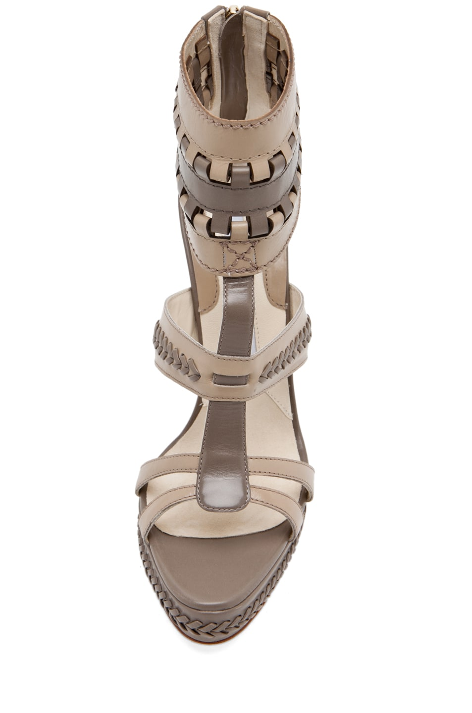Image 4 of Brian Atwood Glamazon T Strap in Pomice