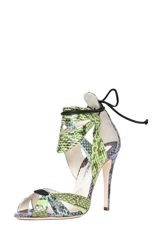 Image 2 of Brian Atwood Uma Snakeskin Sandal in Multi