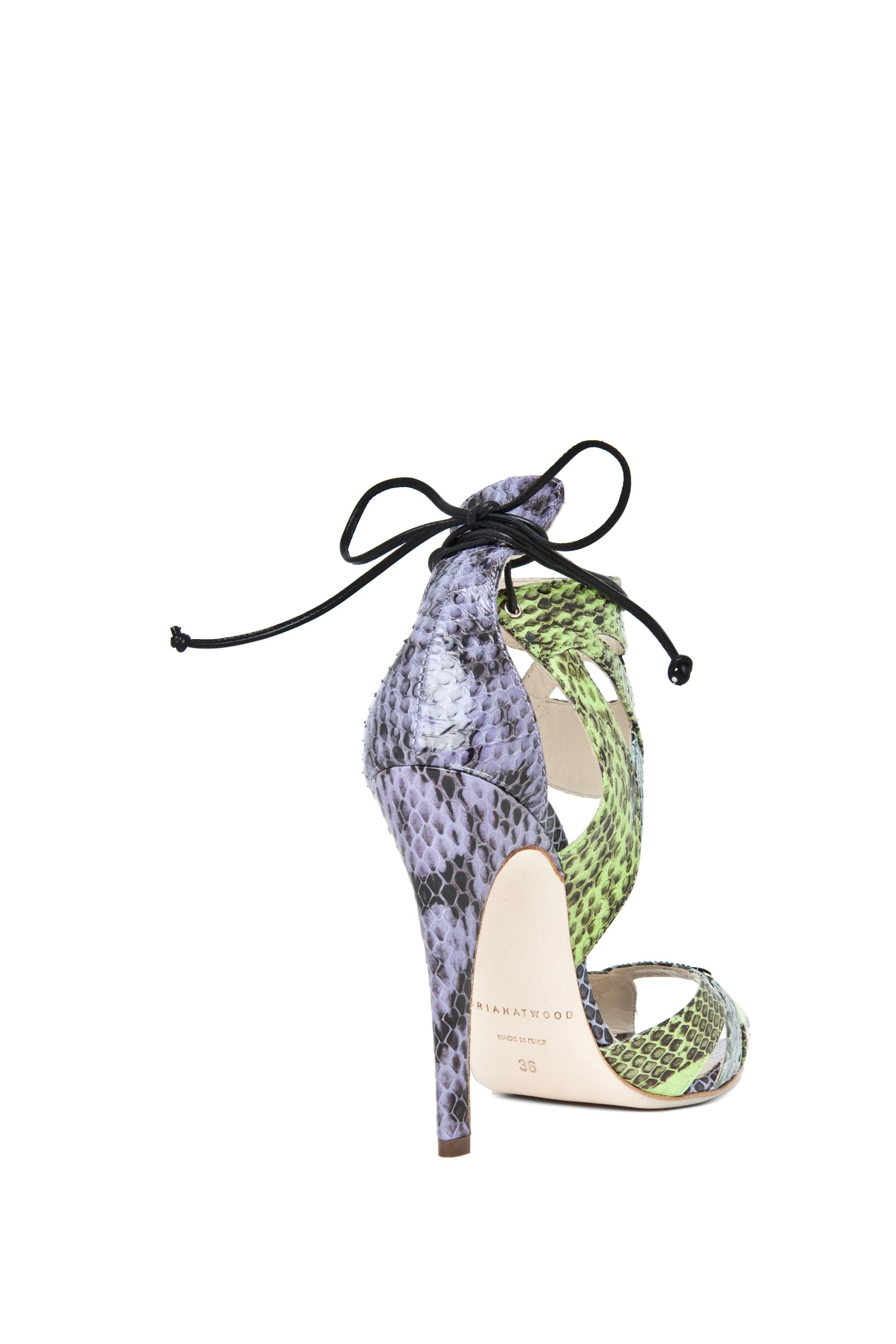 Image 3 of Brian Atwood Uma Snakeskin Sandal in Multi