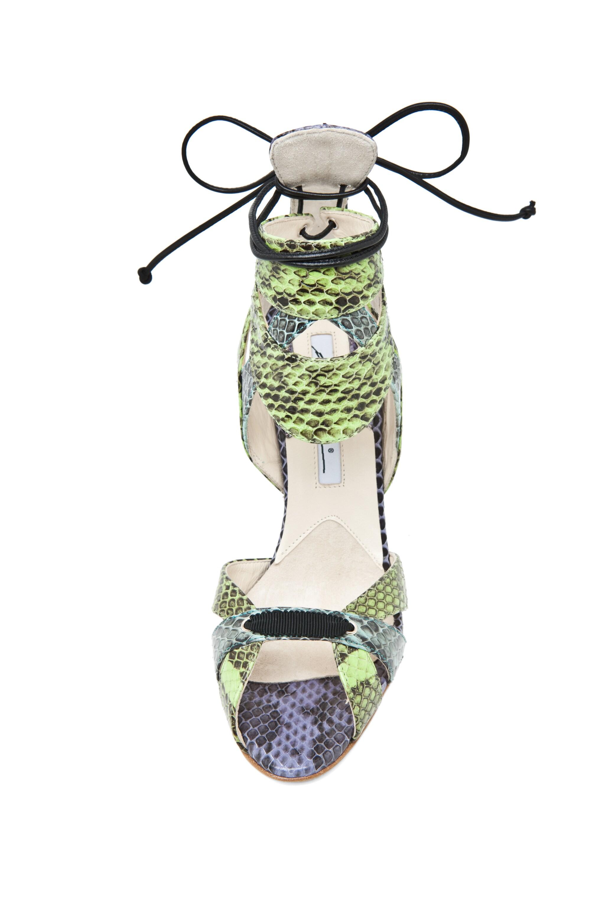 Image 4 of Brian Atwood Uma Snakeskin Sandal in Multi
