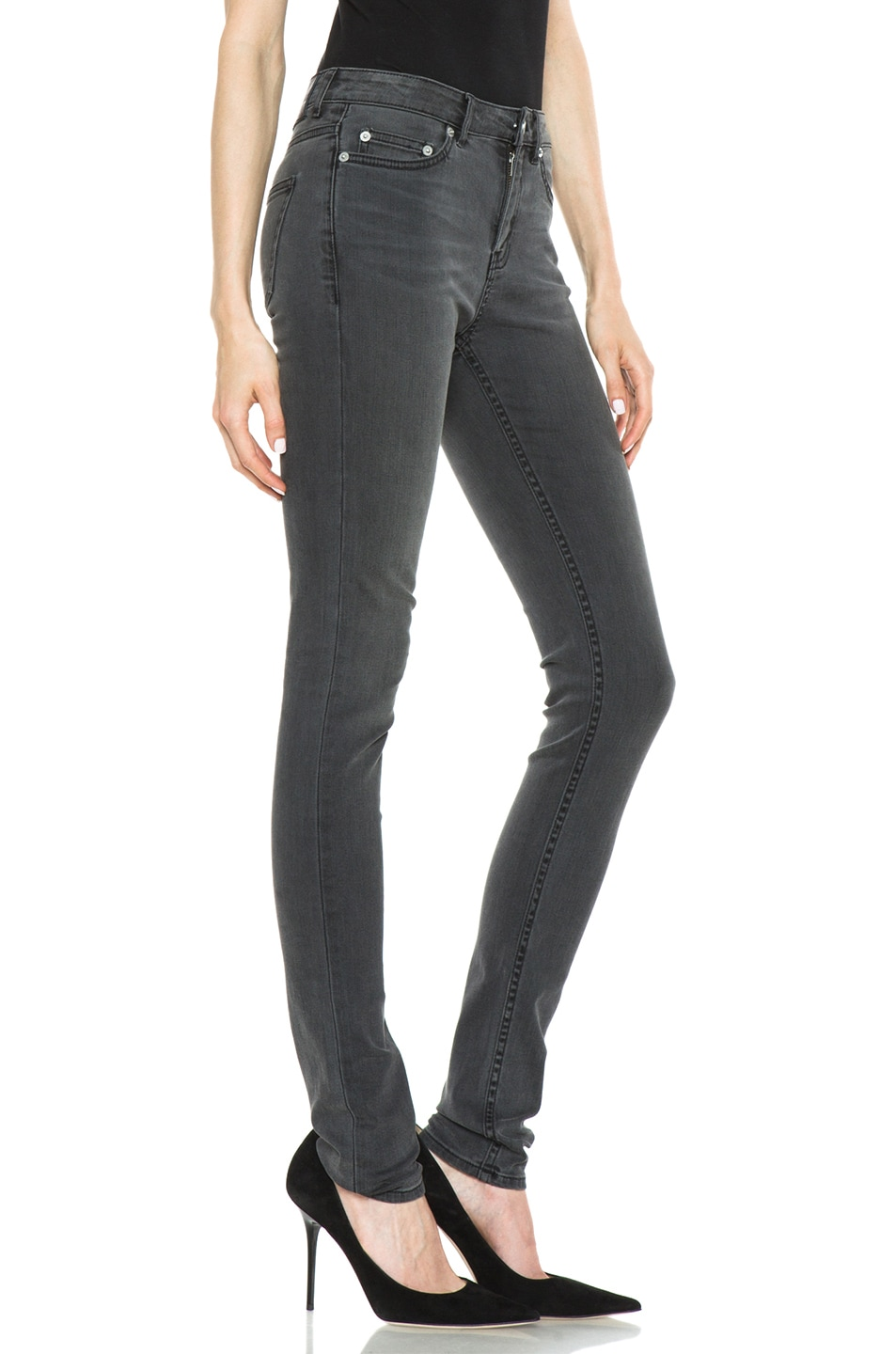Image 2 of BLK DNM Low Waisted Skinny in Staple Grey