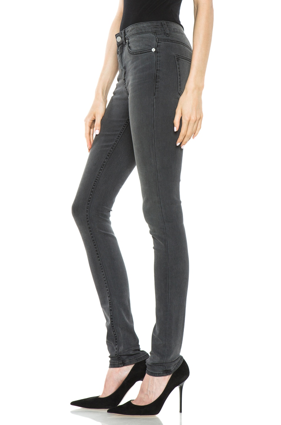 Image 3 of BLK DNM Low Waisted Skinny in Staple Grey