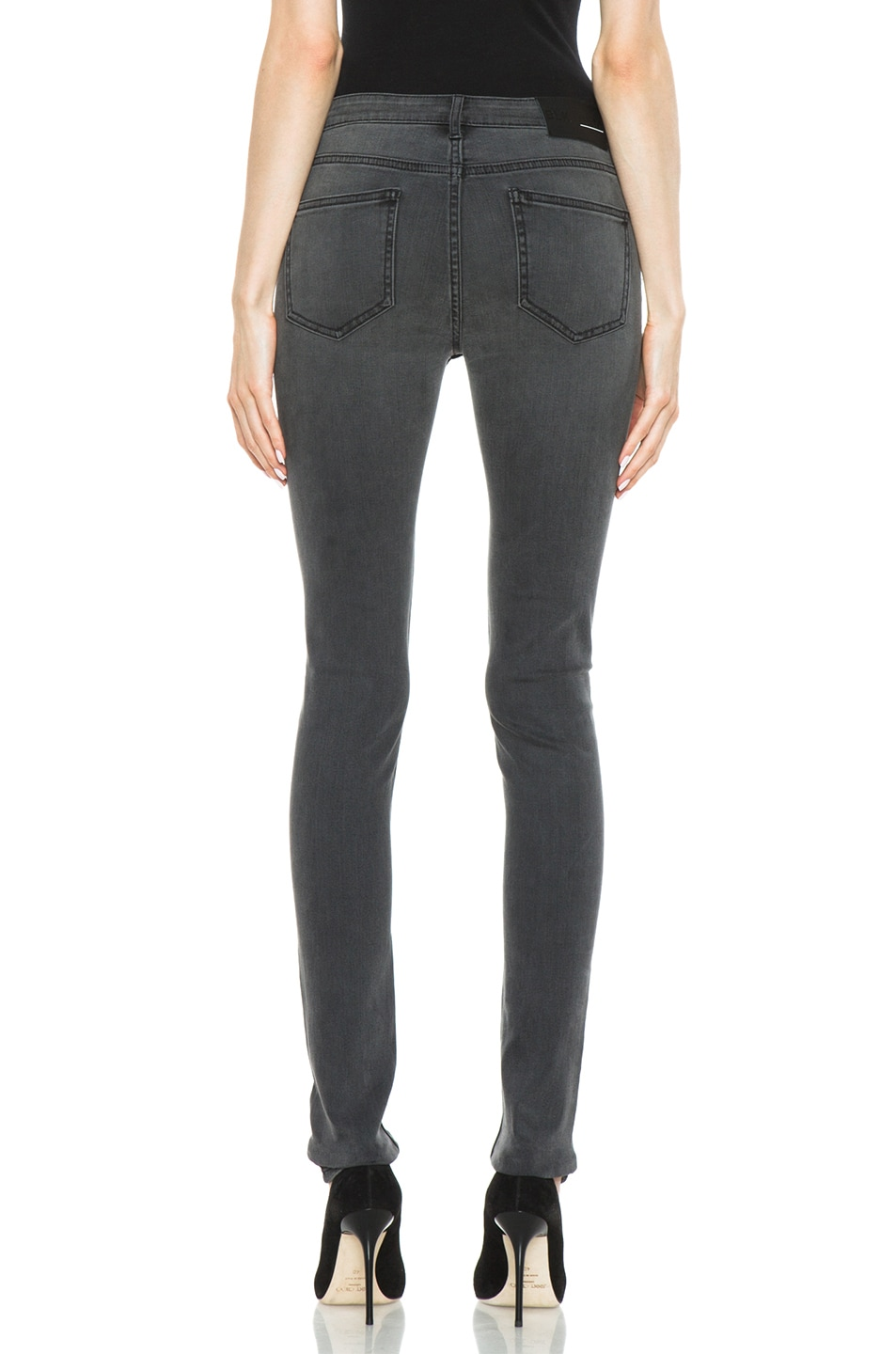 Image 4 of BLK DNM Low Waisted Skinny in Staple Grey