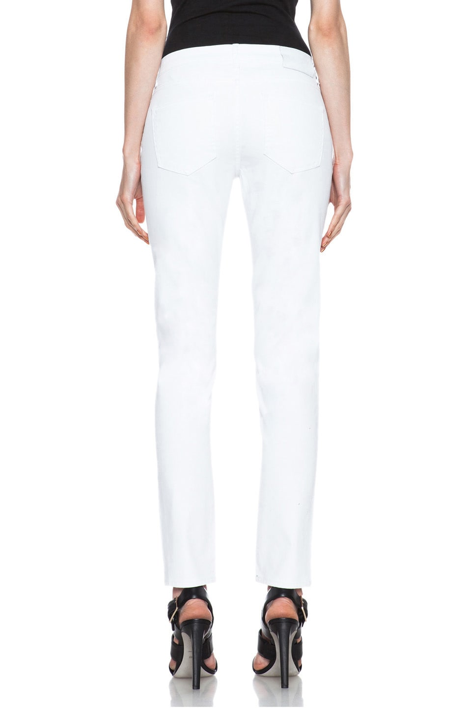 Image 4 of BLK DNM Low Waisted Skinny Straight Leg in Monitor White