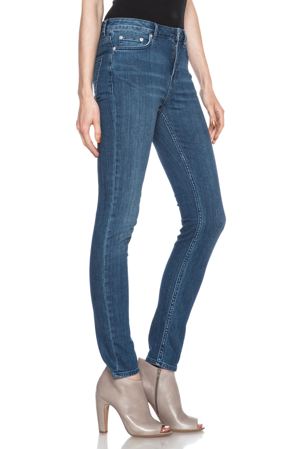 Image 3 of BLK DNM Low Waisted Skinny Straight Leg in Lott Blue