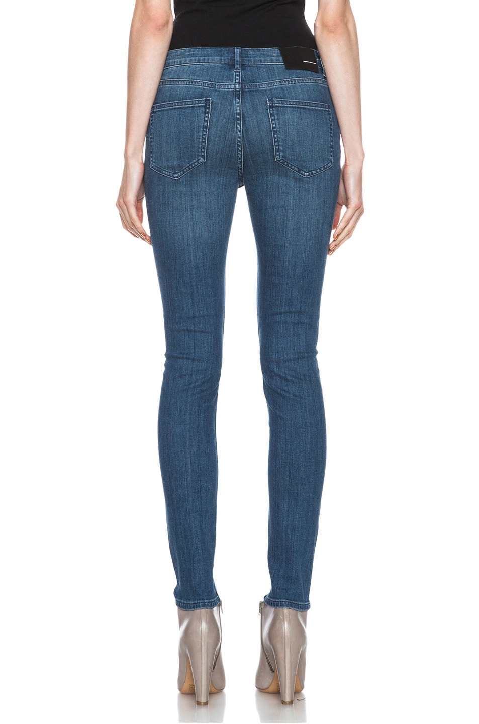 Image 4 of BLK DNM Low Waisted Skinny Straight Leg in Lott Blue