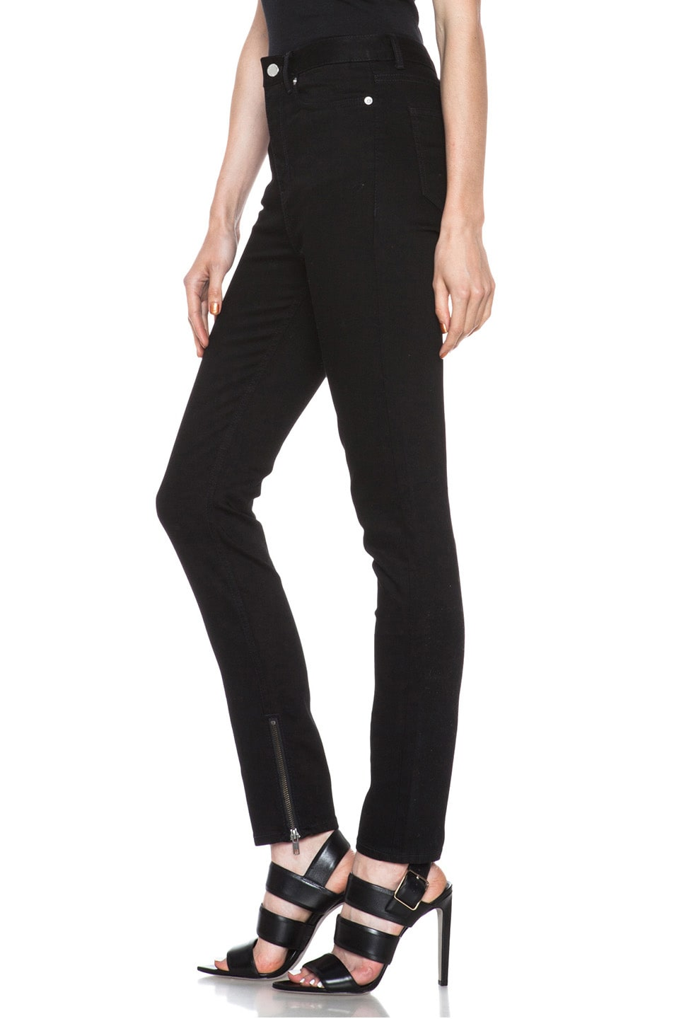 Image 2 of BLK DNM High Waisted 5 Pocket Legging in Monroe Black