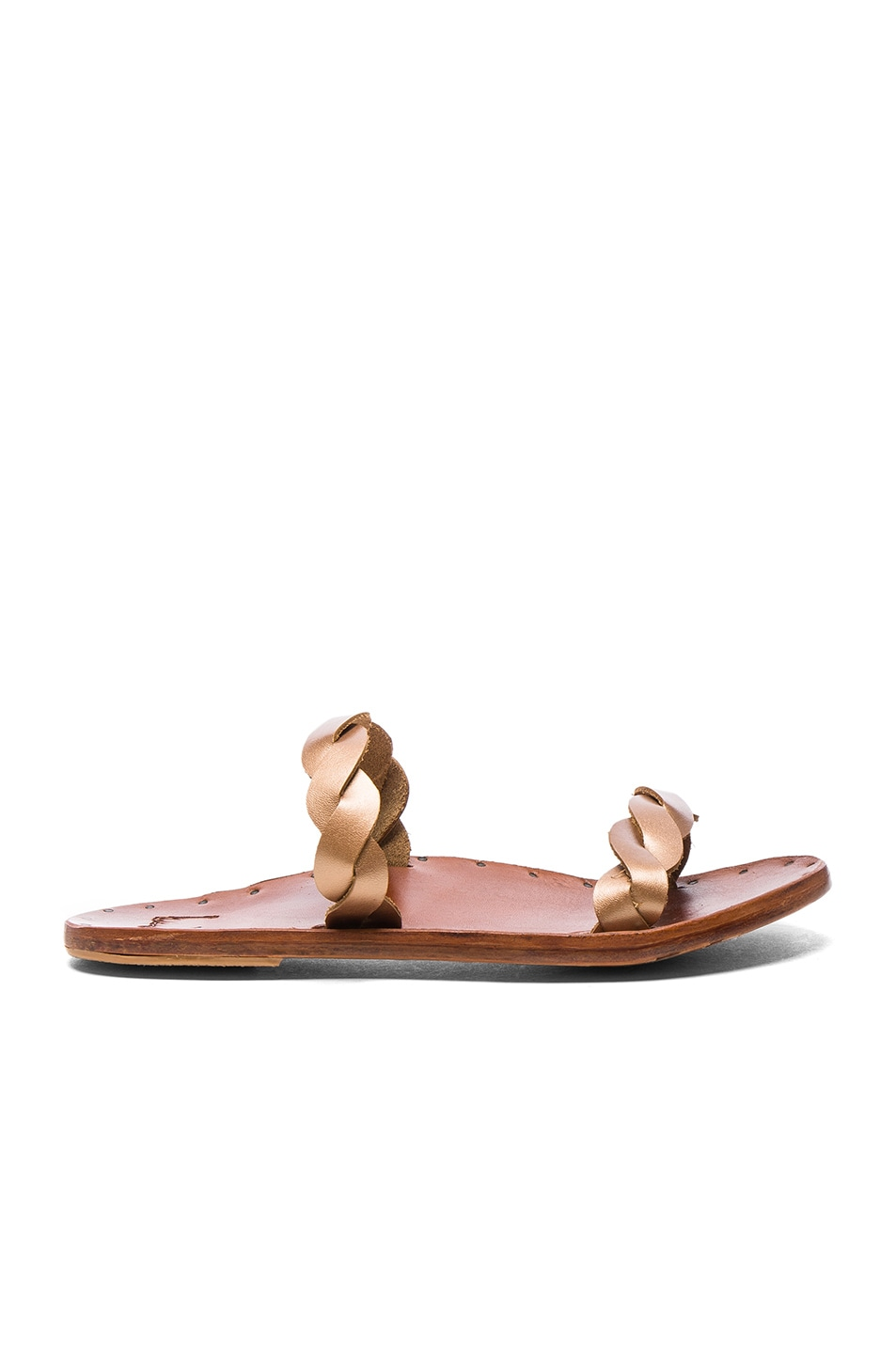 Image 1 of Beek The Pipit Sandals in Rose Gold & Tan